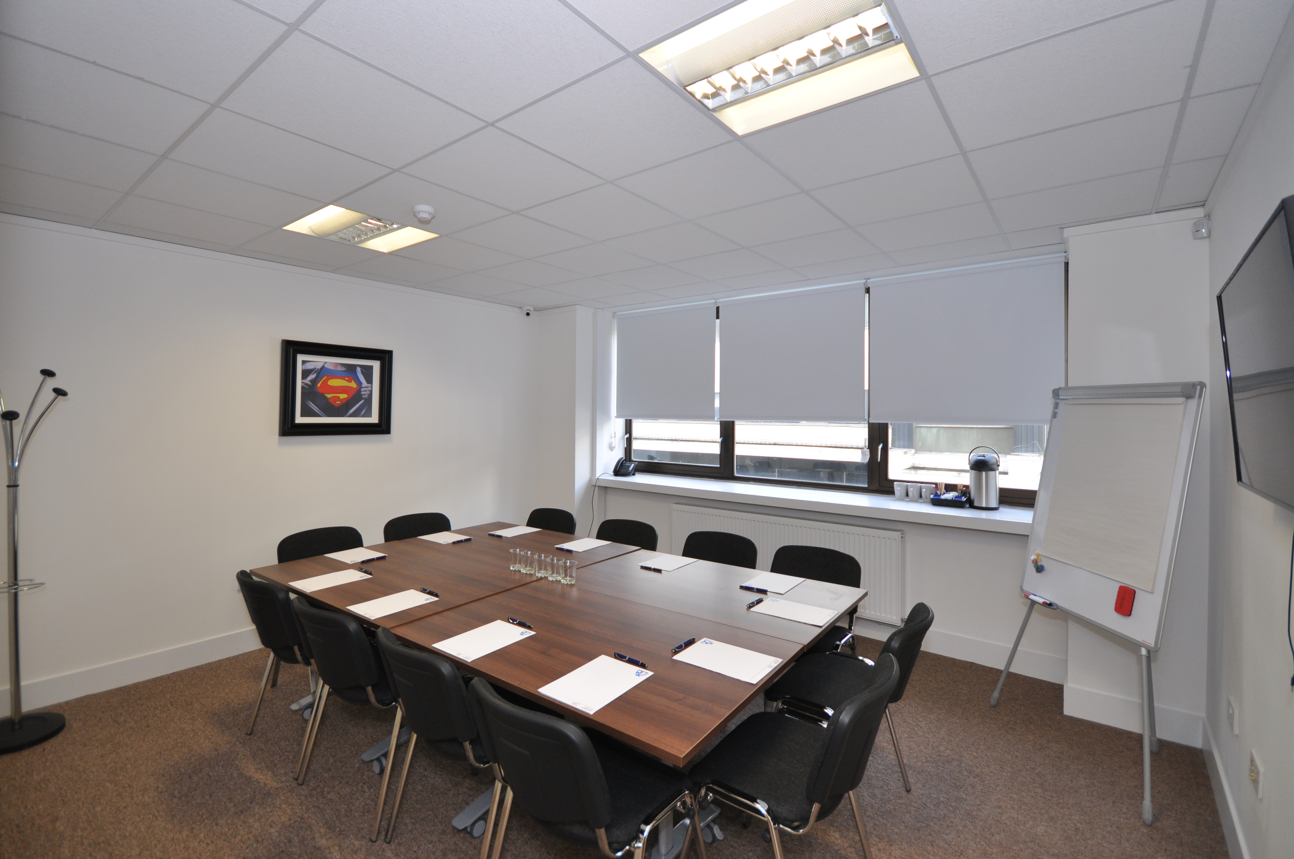 Our Spacious, Modern Training Room can comfortably seat 12-14 people